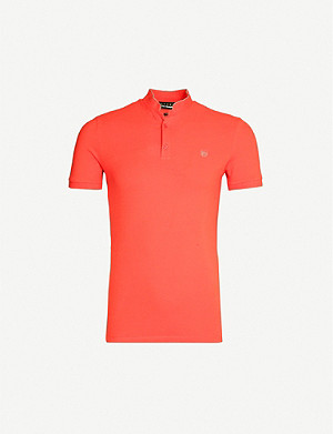 THE KOOPLES Officer collar cotton-piqué polo shirt