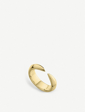 SHAUN LEANE Arc yellow-gold vermeil ring