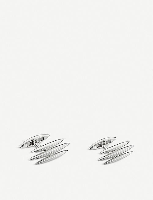 SHAUN LEANE Triple Arc sterling silver cufflinks