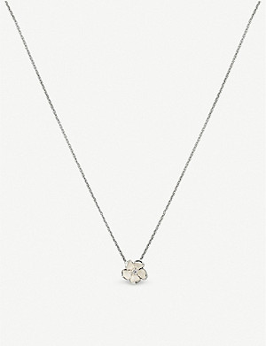 SHAUN LEANE Cherry Blossom silver and diamond pendant necklace