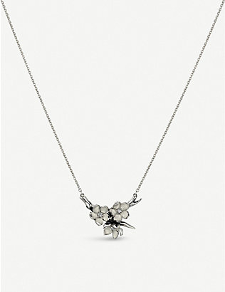 SHAUN LEANE: Cherry Blossom sterling silver and diamond necklace