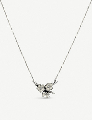 SHAUN LEANE Cherry Blossom sterling silver and diamond necklace