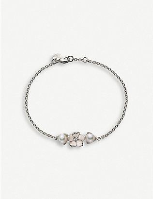 SHAUN LEANE: Cherry Blossom diamond and pearl bracelet