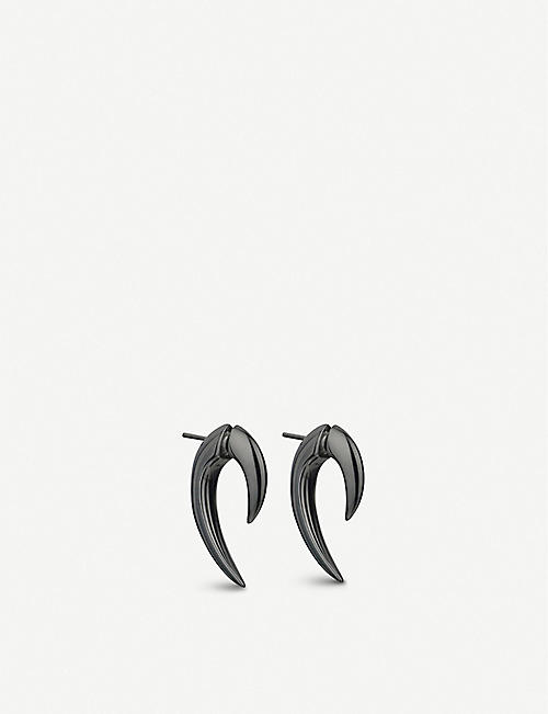 SHAUN LEANE Talon Rhodium plated earrings