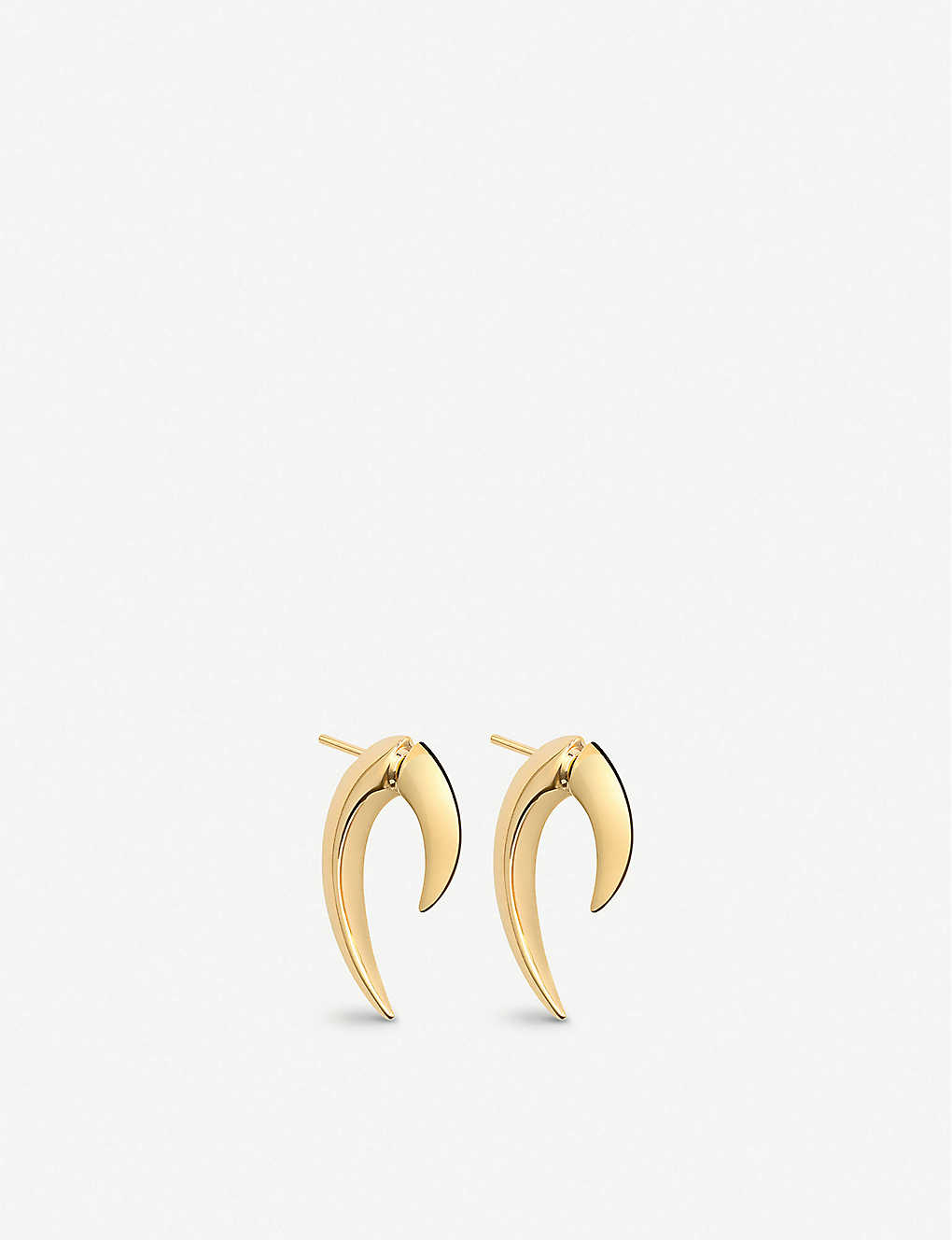 SHAUN LEANE: Talon gold-plated vermeil silver earrings