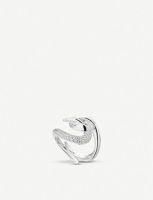 SHAUN LEANE: Hook sterling silver and diamond ring
