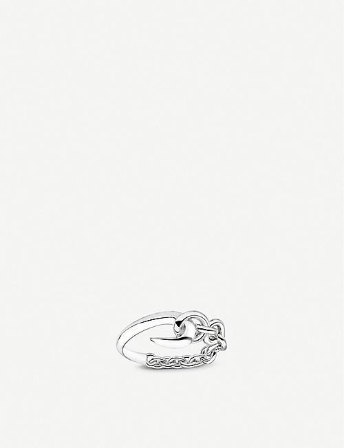 SHAUN LEANE: Hook and chain sterling silver ring