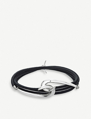 SHAUN LEANE Hook silver and leather bracelet