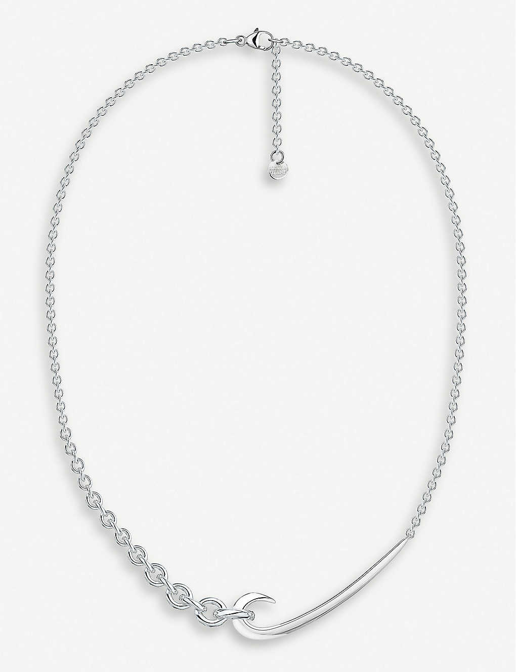 SHAUN LEANE: Hook chain sterling silver choker necklace
