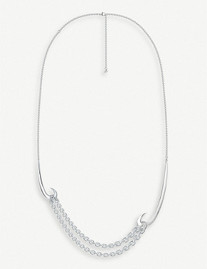 SHAUN LEANE Multi-hook sterling silver necklace