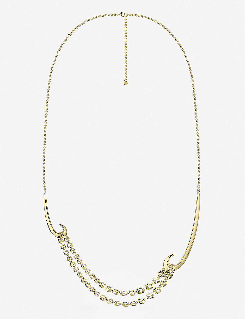 SHAUN LEANE: Multi-hook gold-plated vermeil silver necklace