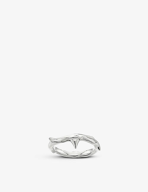 SHAUN LEANE: Rose Thorn sterling silver ring