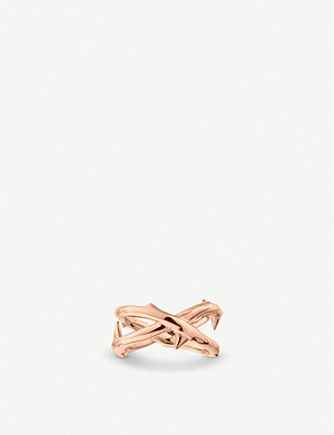 SHAUN LEANE Rose Thorn rose-gold vermeil ring