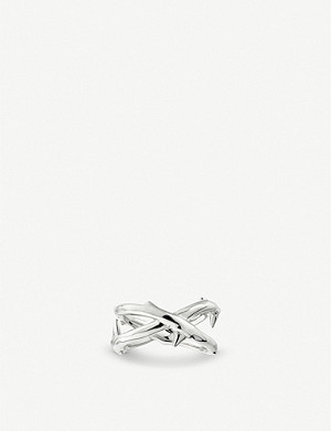 SHAUN LEANE Rose Thorn sterling silver ring