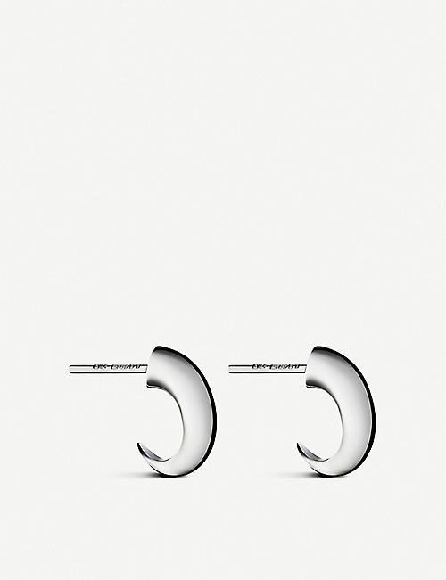 SHAUN LEANE: Cat Claw sterling silver hoop earrings