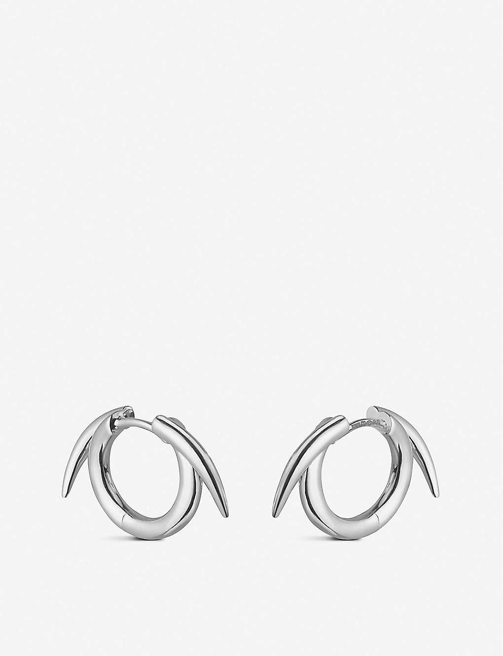 SHAUN LEANE: Thorn Hoop sterling silver earrings