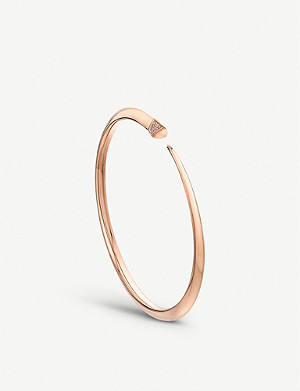SHAUN LEANE Tusk Sabre rose-gold vermeil and diamond bangle