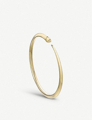 SHAUN LEANE Tusk Sabre yellow-gold vermeil bangle