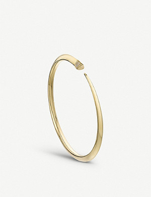 SHAUN LEANE Tusk Sabre yellow-gold vermeil and diamond bangle