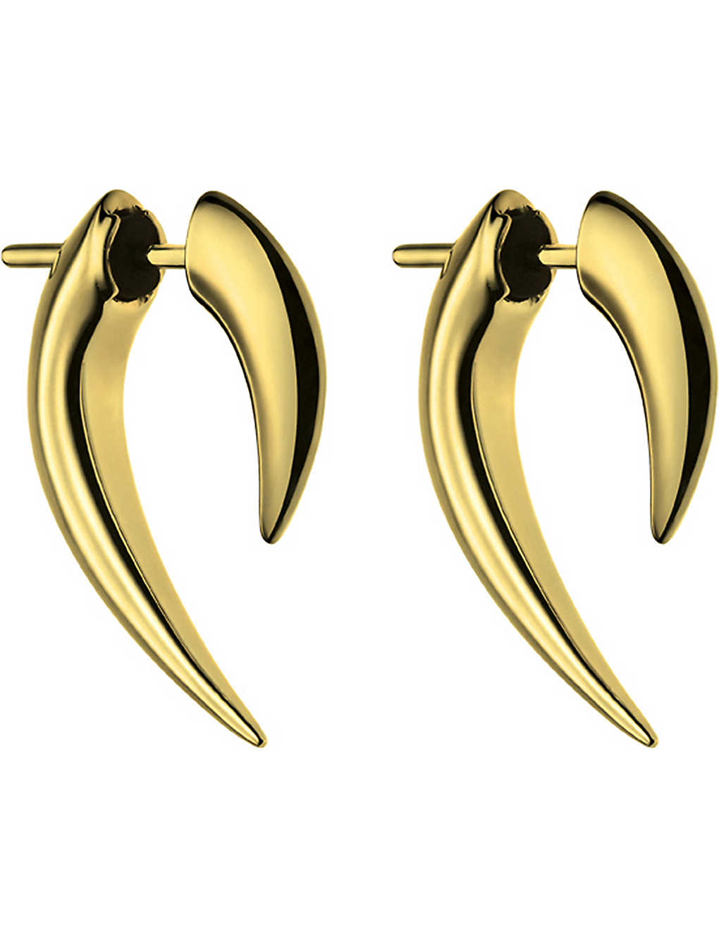 b835dbd4f SHAUN LEANE - Sterling silver and gold vermeil talon earrings ...