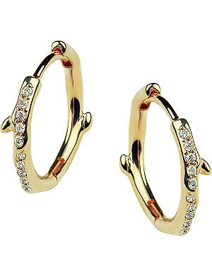c20fdd2f8 Silver and diamond tusk earrings. SHAUN LEANE Cherry Branch yellow-gold  vermeil and diamond hoop earrings