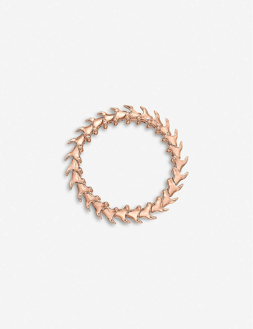 SHAUN LEANE: Serpent Trace wide rose gold-plated vermeil silver bracelet