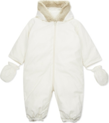 CARAMEL Down filled snowsuit 6-18 months