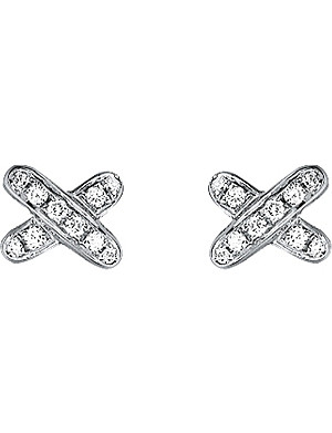 CHAUMET Jeux de Liens 18ct white-gold and diamond earrings