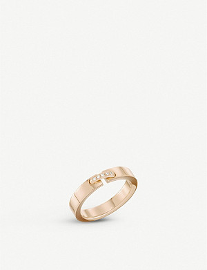 CHAUMET Liens Evidence 18ct pink-gold wedding band
