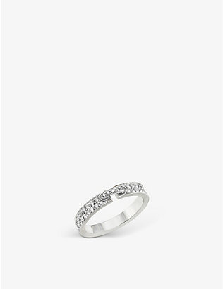 CHAUMET: Liens Evidence 18ct white-gold and diamond wedding band