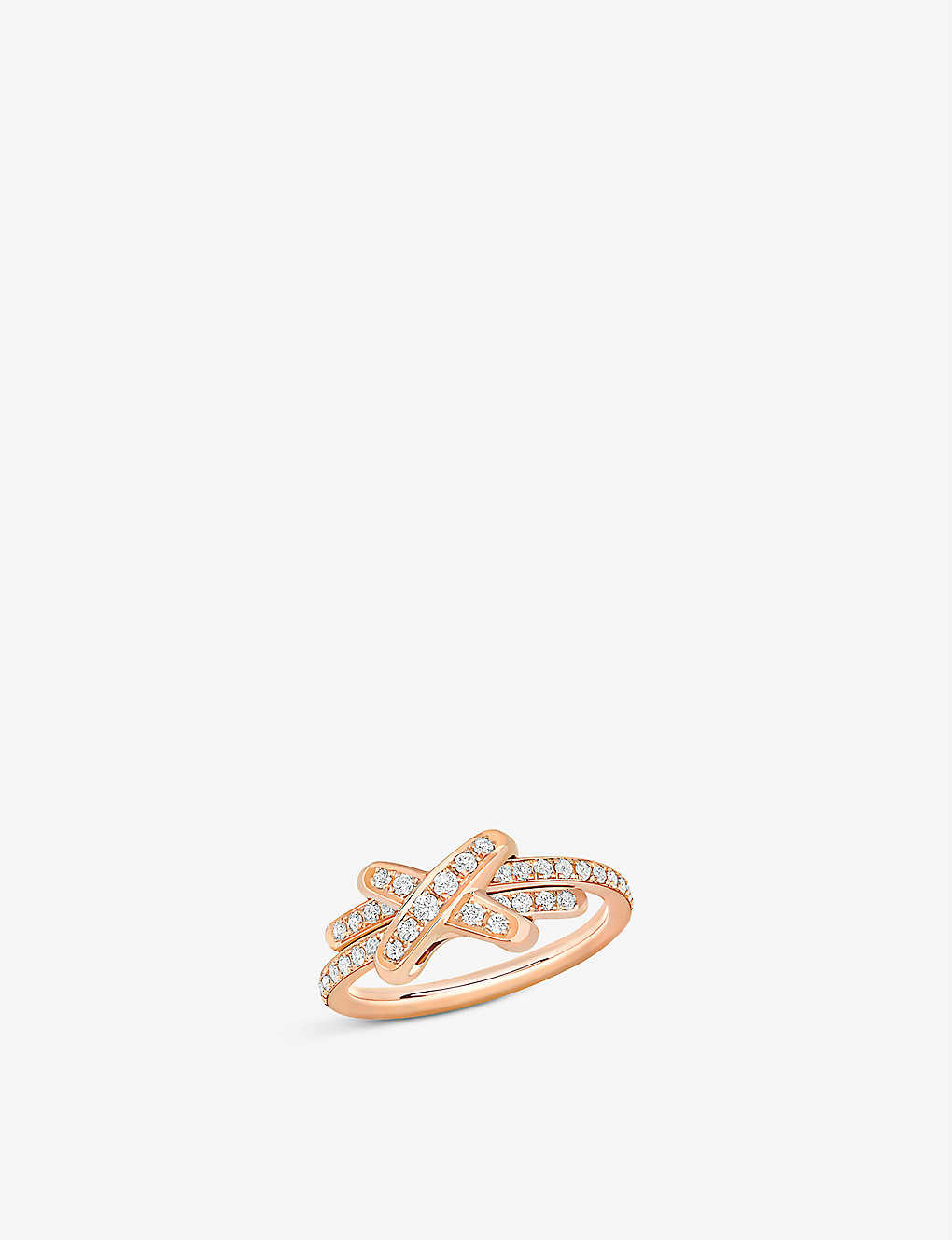 CHAUMET: Jeux de Liens 18ct rose-gold and diamond ring