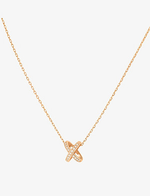 CHAUMET Jeux de Liens 18ct pink-gold and diamond pendant necklace