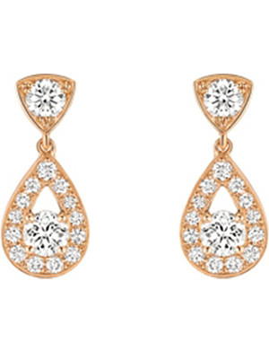 CHAUMET Joséphine 18ct pink-gold and diamond earrings