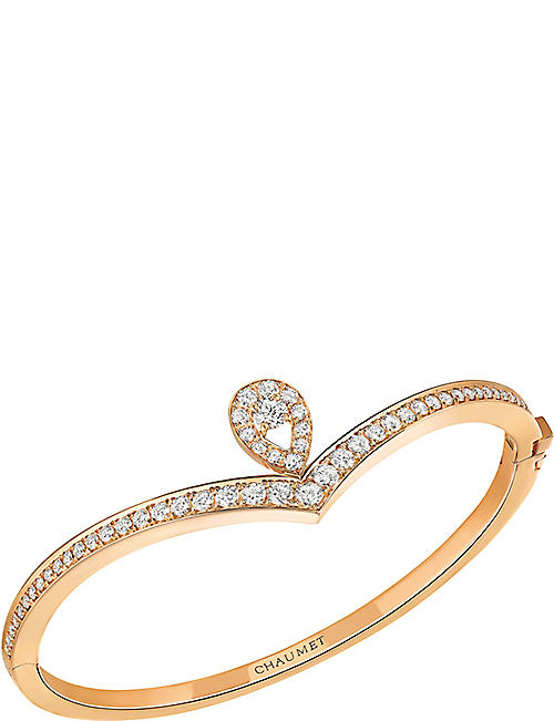 CHAUMET Joséphine 18ct pink-gold and diamond bracelet