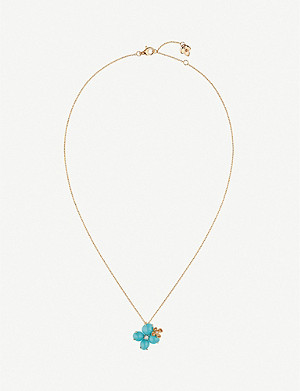 CHAUMET Hortensia Eden 18ct rose-gold, diamond and turquoise necklace