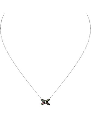 CHAUMET Jeux de Liens grey pearl and diamond pendant necklace