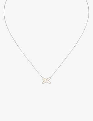 CHAUMET Jeux de Liens mother of pearl and diamond pendant necklace