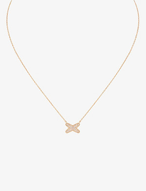 CHAUMET Jeux de Liens 18ct rose-gold diamond pendant necklace