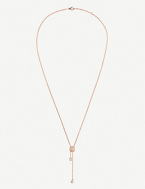 CHAUMET Liens Séduction 18ct pink gold and diamonds pendant