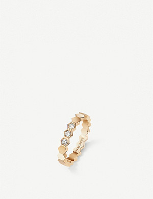 CHAUMET Bee My Love 18ct pink-gold and diamond ring