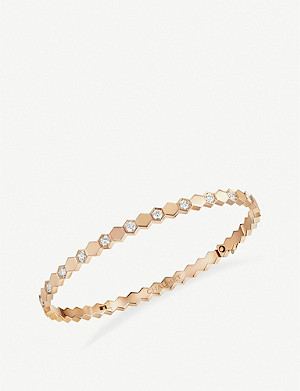 CHAUMET Be My Love 18ct rose-gold and diamonds bangle