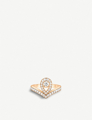 CHAUMET Joséphine Aigrette 18ct rose-gold and diamonds ring