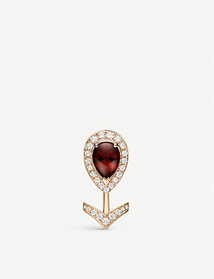 CHAUMET Joséphine Aigrette 18ct rose-gold, garnet and diamonds earring