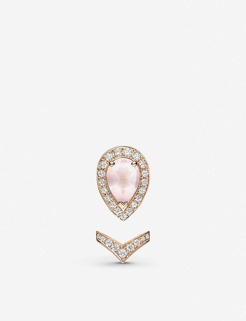 a228d3dd7 CHAUMET - Joséphine Aigrette 18ct rose-gold, pink quartz and ...
