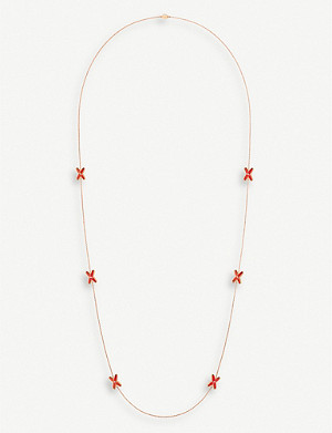 CHAUMET Jeux de Liens 18ct rose-gold, red lacquer and diamond necklace