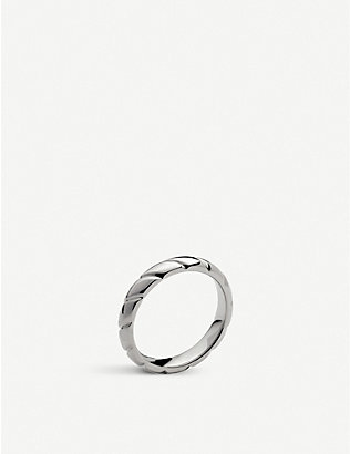 CHAUMET: Torsade de Chaumet platinum flat wedding band