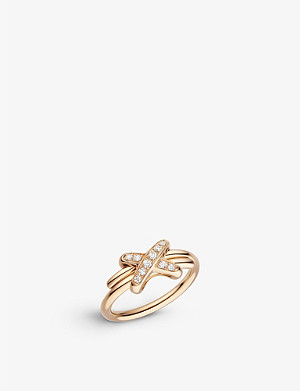 CHAUMET Jeux de Liens 18ct rose-gold and diamond ring