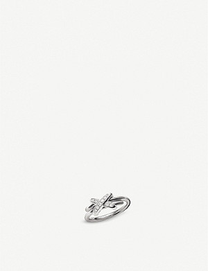 CHAUMET Jeux de Liens 18ct white gold and diamond ring