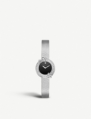 CHAUMET W20611-20B Hortensia Eden stainless steel and diamond watch