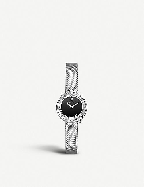 CHAUMET: W20611-20B Hortensia Eden stainless steel and diamond watch